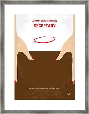 No371 My Secretary Minimal Movie Poster Framed Print by Chungkong Art