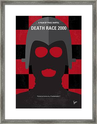 No367 My Death Race 2000 Minimal Movie Poster Framed Print by Chungkong Art