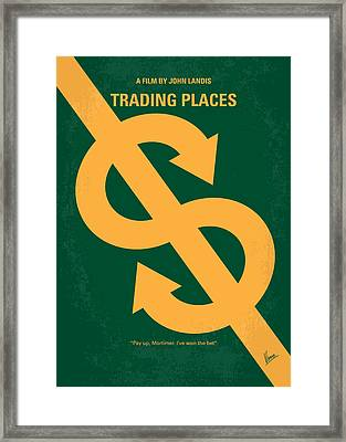No377 My Trading Places Minimal Movie Poster Framed Print by Chungkong Art