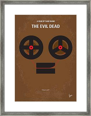 No380 My The Evil Dead Minimal Movie Poster Framed Print by Chungkong Art