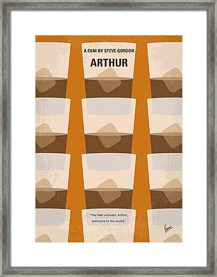 No383 My Arthur Minimal Movie Poster Framed Print by Chungkong Art