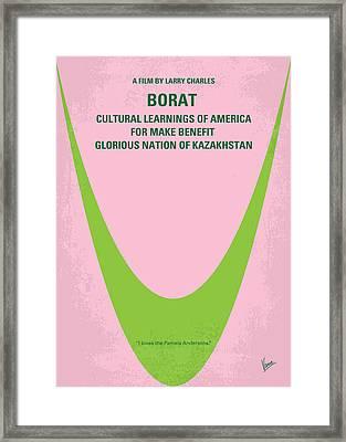 No386 My Borat Minimal Movie Poster Framed Print by Chungkong Art