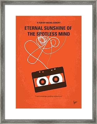 No384 My Eternal Sunshine Of The Spotless Mind Minimal Movie Pos Framed Print by Chungkong Art