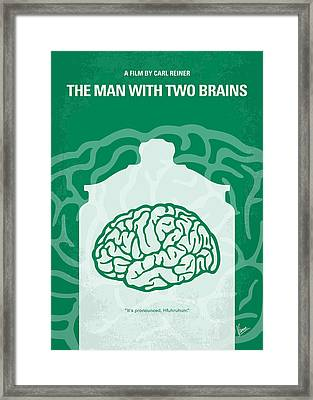 No390 My The Man With Two Brains Minimal Movie Poster Framed Print by Chungkong Art