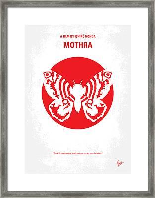 No391 My Mothra Minimal Movie Poster Framed Print by Chungkong Art