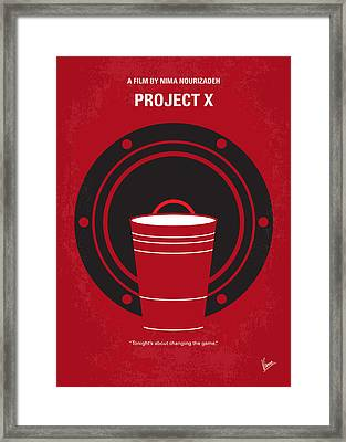 No393 My Project X Minimal Movie Poster Framed Print by Chungkong Art