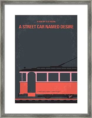 No397 My Street Car Named Desire Minimal Movie Poster Framed Print by Chungkong Art