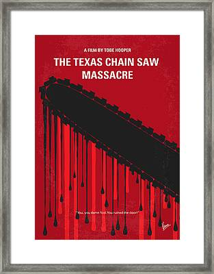 No410 My The Texas Chain Saw Massacre Minimal Movie Poster Framed Print by Chungkong Art