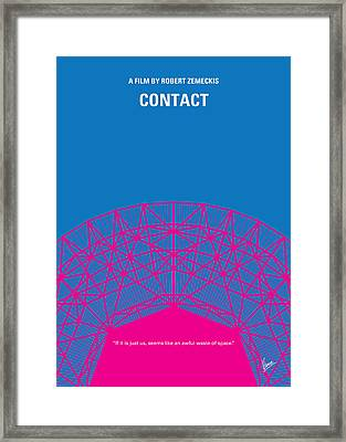No416 My Contact Minimal Movie Poster Framed Print by Chungkong Art