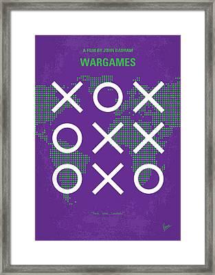 No418 My Wargames Minimal Movie Poster Framed Print by Chungkong Art