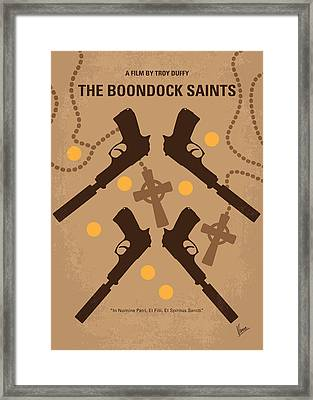 No419 My Boondock Saints Minimal Movie Poster Framed Print by Chungkong Art