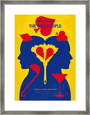 No421 My The Odd Couple Minimal Movie Poster Framed Print by Chungkong Art