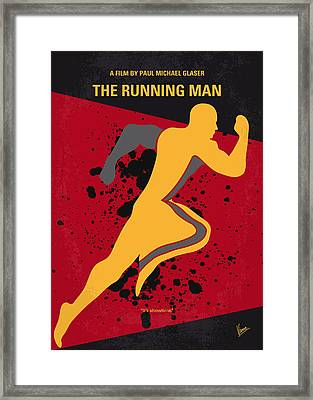 No425 My Running Man Minimal Movie Poster Framed Print by Chungkong Art