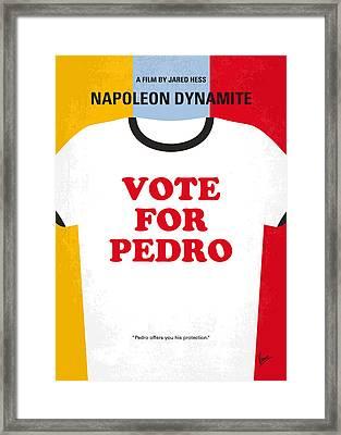 No430 My Napoleon Dynamite Minimal Movie Poster Framed Print by Chungkong Art