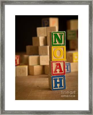 Noah - Alphabet Blocks Framed Print by Edward Fielding