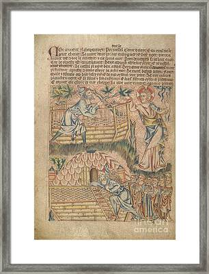 Noah Building The Ark Framed Print by British Library