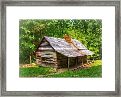 Noah Ogle Cabin Framed Print by Carolyn Derstine