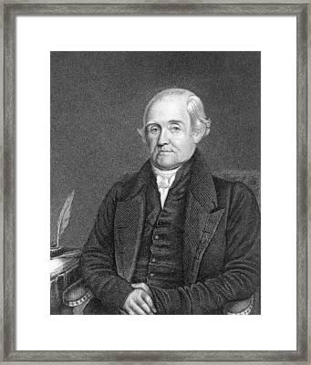 Noah Webster 1758-1843  Framed Print by James Herring