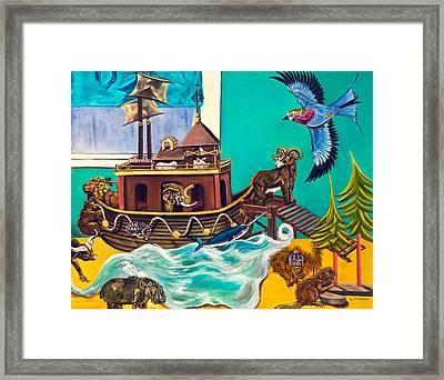 Noah's Ark Second Voyage Framed Print by Susan Culver
