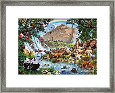 Noahs Ark - The Homecoming Framed Print by Steve Crisp