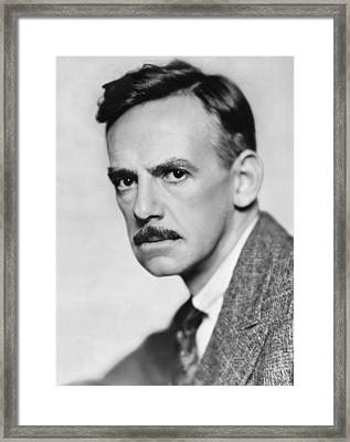 Nobel Laureate Eugene O'neill Framed Print by Underwood Archives