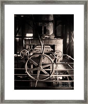 Nobody At The Wheel Framed Print by Royce Howland