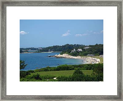 Nobska Beach Framed Print by Barbara McDevitt