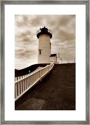 Nobska Lighthouse Framed Print by Skip Willits