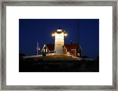 Nobska Point Light Framed Print by Dan Myers