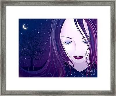 Nocturn Framed Print by Sandra Hoefer