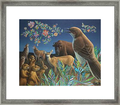 Nocturnal Cantata Framed Print by James W Johnson