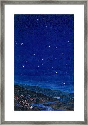 Nocturnal Landscape Framed Print by Francois-Louis Schmied
