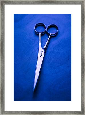 Nogent Scissors Framed Print by Yo Pedro
