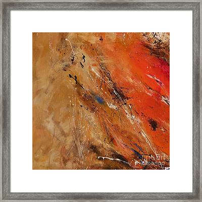 Noise Of The True Feelings - Abstract Framed Print by Ismeta Gruenwald