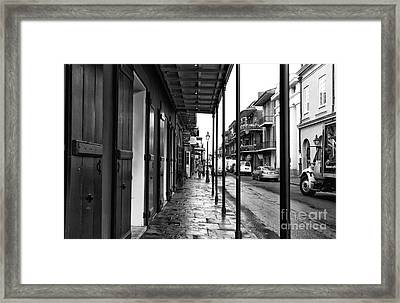 Nola Lines Mono Framed Print by John Rizzuto