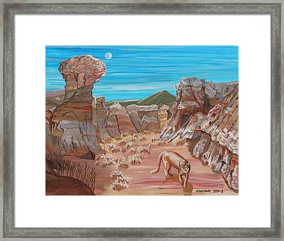 Nola Prowling The Painted Mines Framed Print by Mike Nahorniak