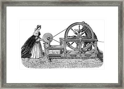 Nollet Electrostatic Generator Framed Print by Science Photo Library