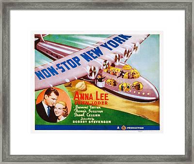Non-stop New York, Us Lobbycard, Bottom Framed Print by Everett