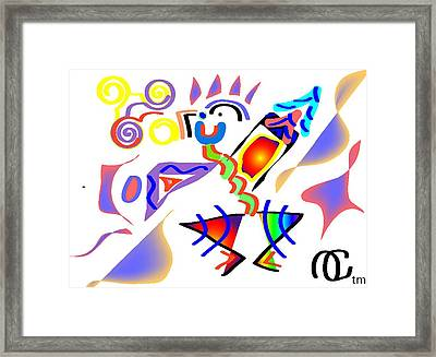 Noodle Framed Print by Andy Cordan