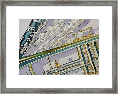 Noon Trio Framed Print by Jenny Armitage