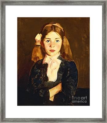 Nora Framed Print by Robert Henri