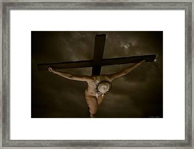 Nordic Crucifix Framed Print by Ramon Martinez