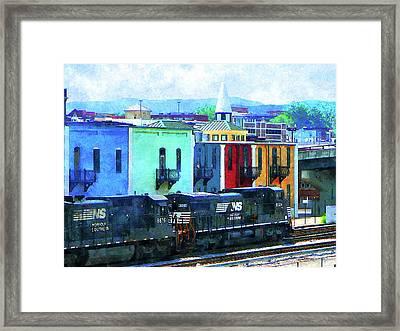 Norfolk Southern 8324 And 8676 Locomotives Framed Print by Susan Savad