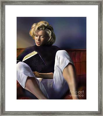 Norma Jeane Baker Framed Print by Reggie Duffie