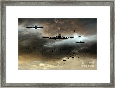 Normandy Invasion Framed Print by J Biggadike