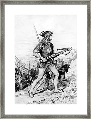 Normans With Crossbow Framed Print by Underwood Archives