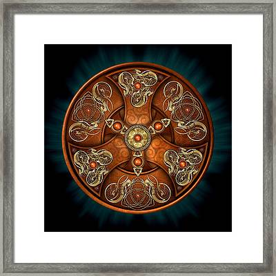 Norse Chieftain's Shield Framed Print by Richard Barnes