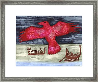 Norse Fairytale Framed Print by Cat Athena Louise