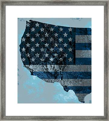 North America Topography Map Framed Print by Dan Sproul