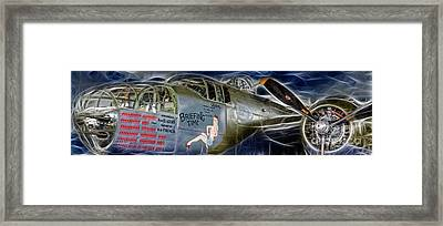 North American B-25 Mitchell Bomber  Framed Print by Lee Dos Santos